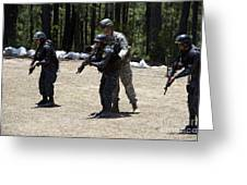 A Green Beret Instructs Tigres Trainees Greeting Card