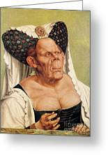 A Grotesque Old Woman Greeting Card