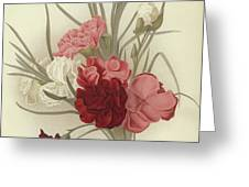 A Group Of Clove Carnations Greeting Card