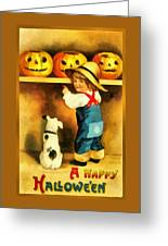 A Happy Halloween Puppy Greeting Card
