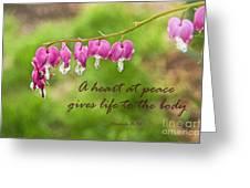 A Heart At Peace Greeting Card