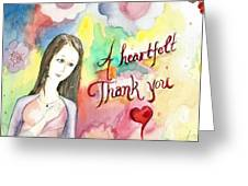 A Heartful Thank You Greeting Card