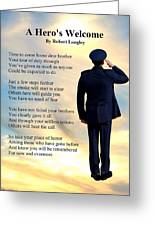 A Hero's Welcome - Air Force 1 Greeting Card
