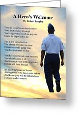 A Hero's Welcome - Air Force 2 Greeting Card