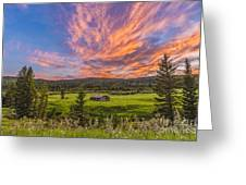 A High Dynamic Range Photo Of A Sunset Greeting Card