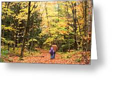 A Hike Into The Forest Greeting Card