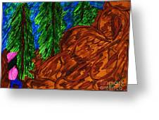 A Hike On A Park Trail Greeting Card