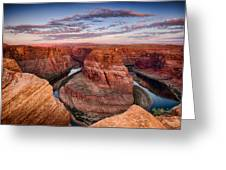 A Horseshoe Bend Morning  Greeting Card