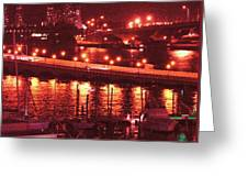 A Hot Night On Biscayne Bay Greeting Card