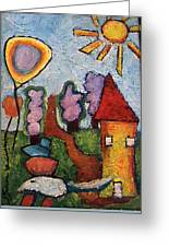 A House And A Mouse Greeting Card