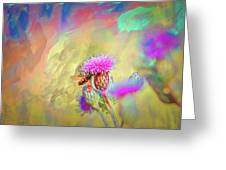 A Hoverfly On Abstract #h3 Greeting Card