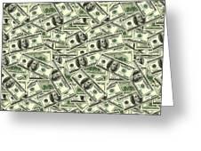 A Hundred Dollar Bill Banknotes Greeting Card