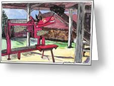 A I Farm Apple Squeeze Dragon Greeting Card