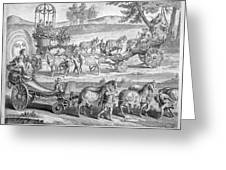 Chariot Of Apollo Greeting Card