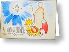 A Joyous Sharing Greeting Card