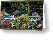 A Juneau Hillside  Greeting Card