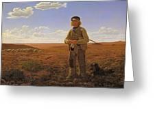 A Jutland Sheperd On The Moors Greeting Card