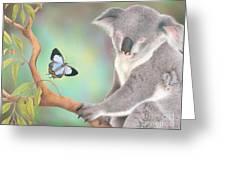 A Kiss For Koala Greeting Card by Karen Hull