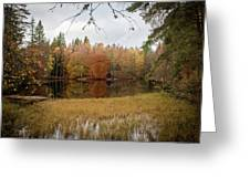 A Lake In England  Greeting Card