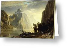 A Lake In The Sierra Nevada Greeting Card