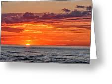 A Lake Sunset Greeting Card