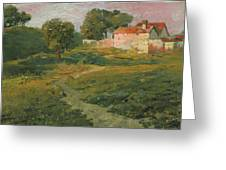 A Landscape In Vicinity Of Strijigorod Greeting Card