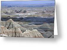 A Landscape Of The Badlands In South Greeting Card
