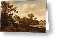 A Landscape With A Figure On A Path And A Bleaching Greeting Card