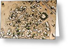 A Large Sahelian Town In Western Mali Greeting Card