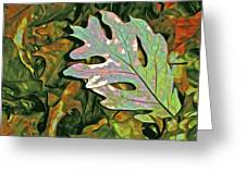 A Leaf On The Pile Greeting Card