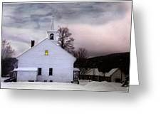 A Light In The Old Church Greeting Card