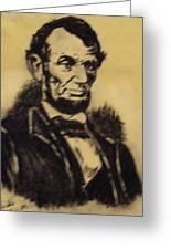 A. Lincoln Greeting Card by Mimi Eskenazi