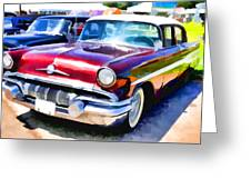 A Line Of Classic Antique Cars 9 Greeting Card