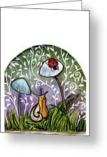 A Little Chat-ladybug And Snail Greeting Card