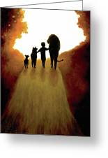 A Little Child Will Lead Them Greeting Card