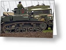 A Little Honey - M3 Stewart Light Tank Greeting Card