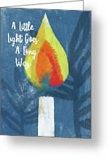 A Little Light- Art By Linda Woods Greeting Card