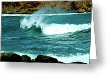 A Little Wave Action Greeting Card