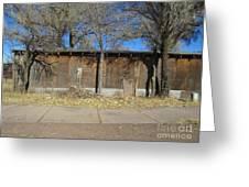 A Livestock Barn Greeting Card