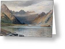 A Loch North Of Hadrian's Wall Greeting Card by Walter Severn