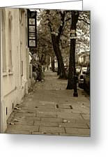 A London Street I Greeting Card