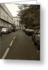 A London Street II Greeting Card