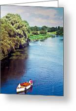 A Lone Boat Greeting Card