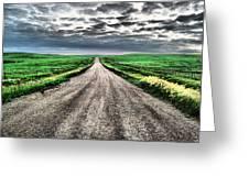 A Long Dakota Road Greeting Card