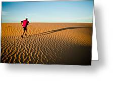 A Long Desert Run Greeting Card