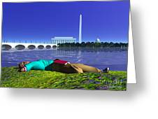 A Lunch Break On The Potomac Greeting Card