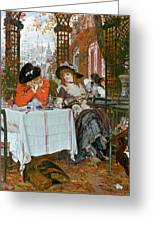 A Luncheon Greeting Card by Tissot