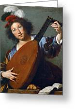 A Lute-player Greeting Card