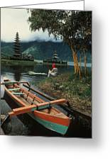A Magic Moment On The Island Of Bali Greeting Card