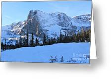 A Majestic Winter View Greeting Card